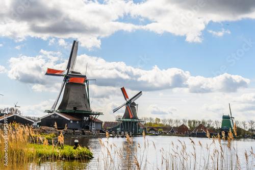 Photo  Zaanse Schans, quiet village in Netherlands, province North Holland
