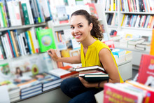 Woman Taking Literature Books ...