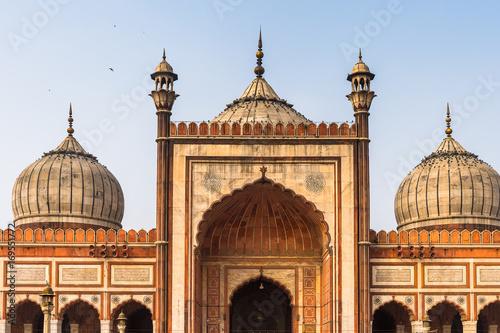 Stickers pour porte Delhi Jama Masjid, Old town of Delhi, India. It is the principal mosque in Delhi