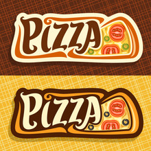 Vector Banners For Pizza: Labe...