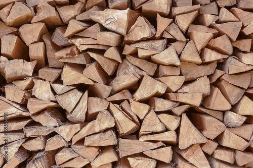 Aluminium Prints Firewood texture Pile Firewood Texture used as Background