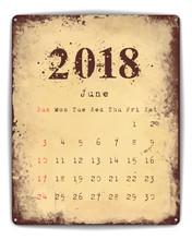 2018 Tin Plate Calendar June