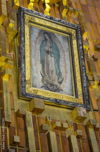 Fotografie, Obraz  Imagem milagrosa de Nossa Senhora de Guadalupe