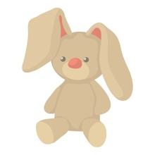 Plush Toy Bunny Icon, Cartoon ...