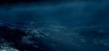 The Stormy Sea.3d Render