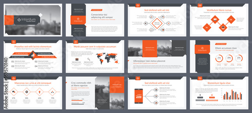 Elements of infographics for presentations templates Wallpaper Mural