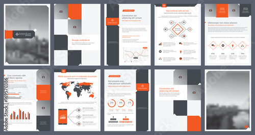 Elements Of Infographics For Report Template And Presentations Templates.  Corporate Annual Report, Leaflet,