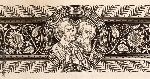 Fotografie, Obraz BRATISLAVA, SLOVAKIA, NOVEMBER - 21, 2016: The lithography of St