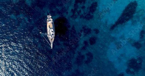 voilier en mer, sur la côte espagnole Canvas Print