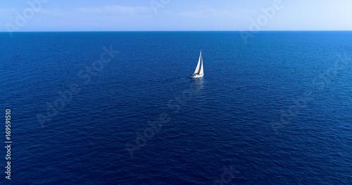 Fotografia  voilier en mer, sur la côte espagnole