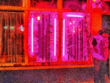 Red Light District At Night In...