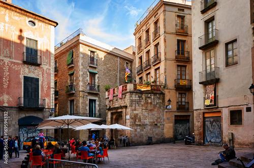Fotografie, Obraz  Gothic Quarter in Barcelona