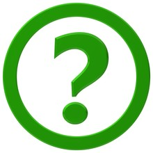 Question Mark Interrogation Point 3d Green Question Icon Asking Sign Punctuation Mark Isolated On White
