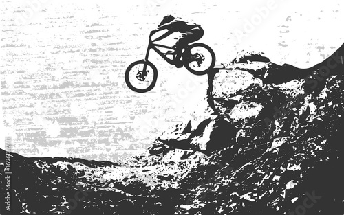 Carta da parati Bicylce beckground. Downhill, freeride, mtb. Vector