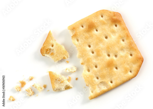 pieces and crumbs of cracker Canvas Print