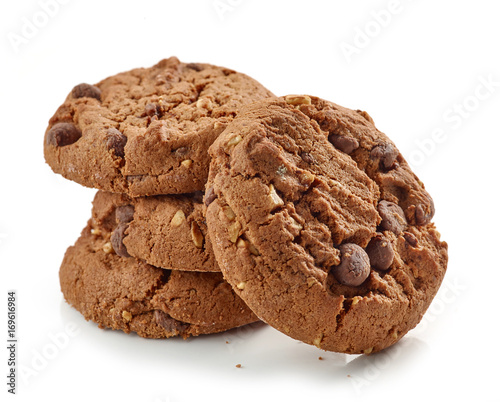 Foto op Aluminium Koekjes Chocolate and nut cookies