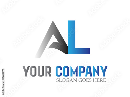 Photo Letter AL Modern Logo Design Vector