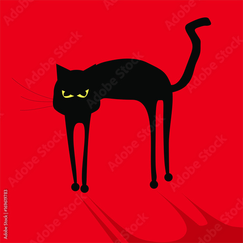 Halloween Katze Flat Icon Buy This Stock Vector And Explore