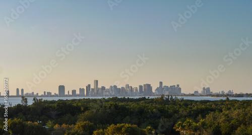 Plakat Widok z Key Biscayne na panoramę Miami