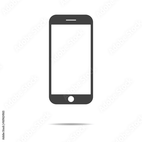 Fotografía  Trendy smartphone icon - simple flat design isolated on white background, vector