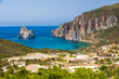 Spaggia di Masua beach and Pan di Zucchero, Sardinia, Italy.