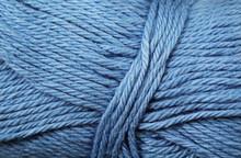 A Super Close Up Image Of Blue Yarn