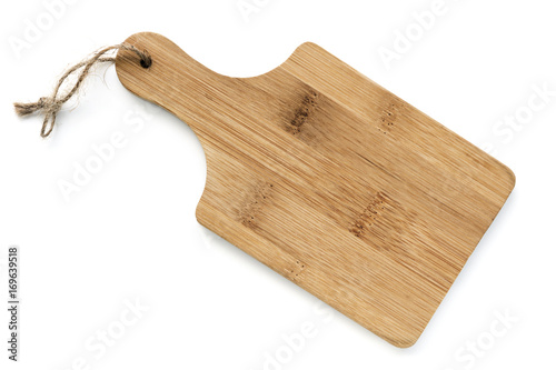 Wooden Chopping Board Isolated Top View