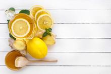 Tea, Lemon, Ginger, Honey And ...