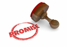 Promise Stamp Guarantee Vow Wo...