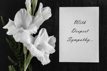 White Blank Condolence Card Wi...