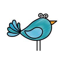 Cute Birdie Cartoon Icon Vecto...