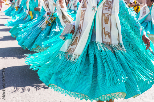 Photo Stands South America Country Peruvian dance