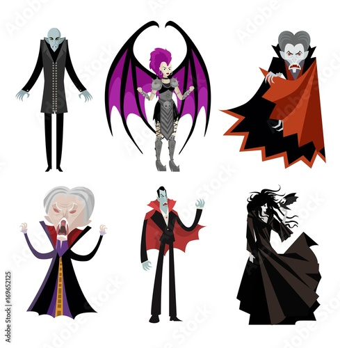 Photo vampire characters collection