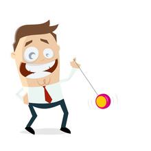 Funny Businessman Playing Yoyo