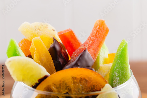 Fototapety, obrazy: Homemade candied fruit in chocolate