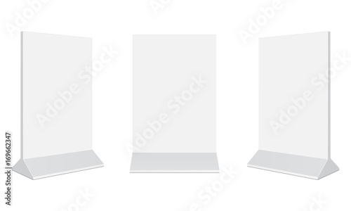 Fototapeta Set of outdoor advertising stand banners
