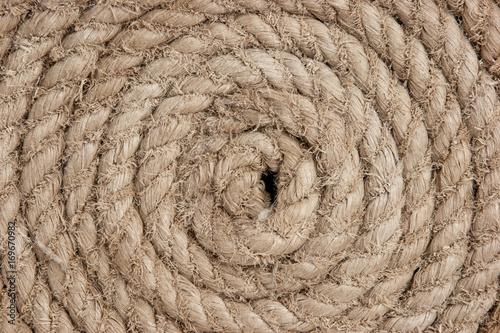 Fotografiet  twisted hemp rope