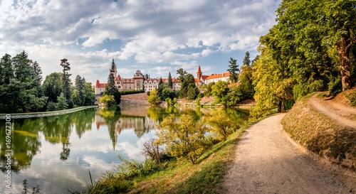 In de dag China Pruhonice Castle, Czech Republic