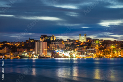 Fototapeta St John's cityscape at the evening, Newfoundland, Canada