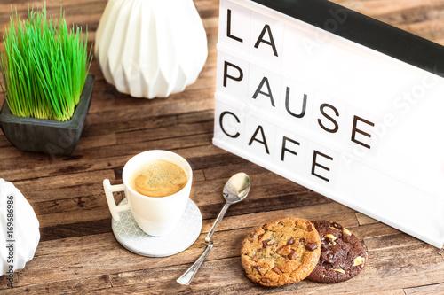 Fototapeta  Table lumineuse : la pause café
