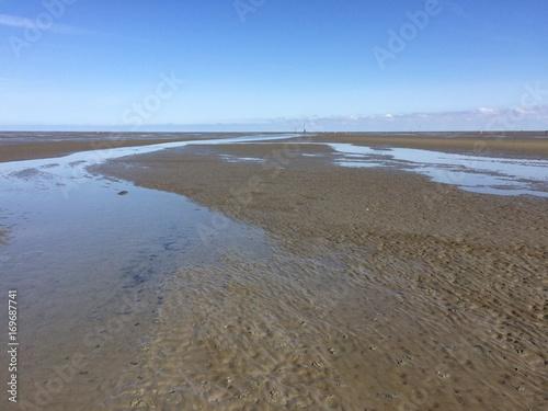 Spoed Foto op Canvas Noordzee Priel im Watt der Nordsee