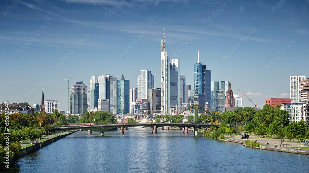Fototapety, obrazy: Skyline Frankfurt am Main