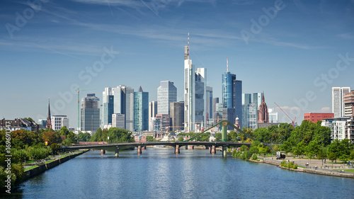 Photo sur Toile Europe Centrale Skyline Frankfurt am Main