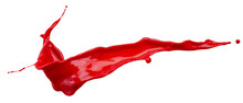 Red Paint Splash Isolated On A...