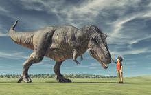 A Boy And A Big Dinosau