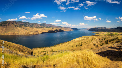 Canvas Prints Honey Summer panorama of the Kamloops lake in Canada