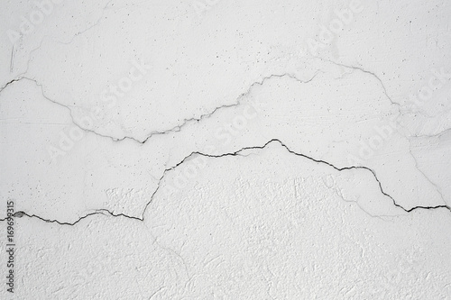 Fotomural old white cracked wall background
