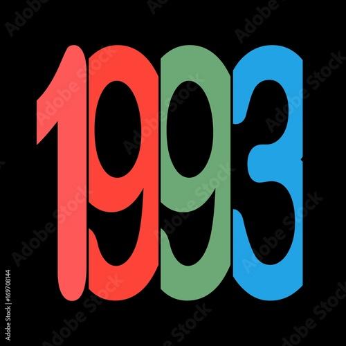 Poster  Jahr - Jahrgang - Geburtsjahr 1993