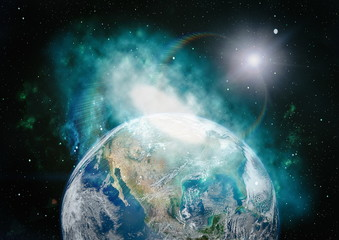 The Earth from space. This image elements furnished by NASA.