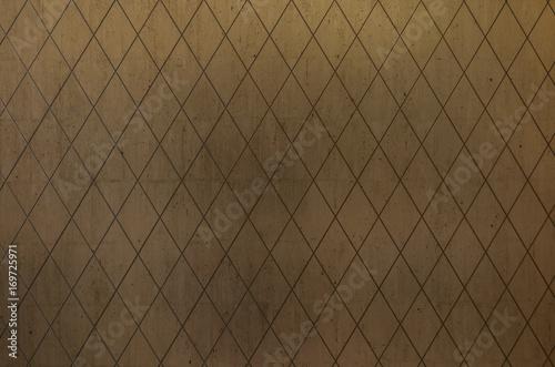 Fotografía  Textura abstrata de losangos metálicos